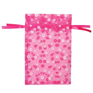 オーガンジー フラワー ピンク