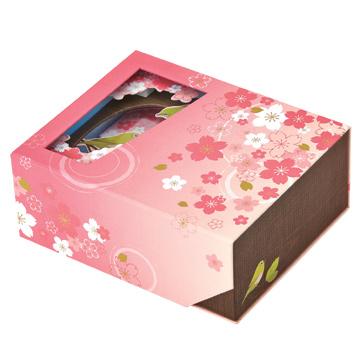 貼箱 メジロと桜
