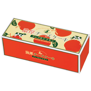 濃厚チーズケーキ アップルシナモン箱