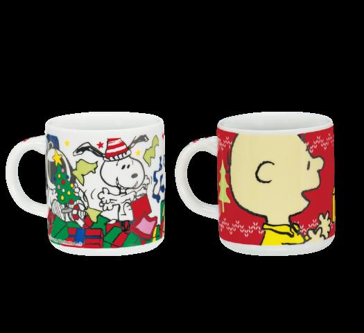 陶器 ピーナッツ クリスマス プレゼントを開けよう&スヌーピーサンタ
