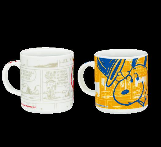 陶器 ピーナッツ コミック ホワイト&オレンジ