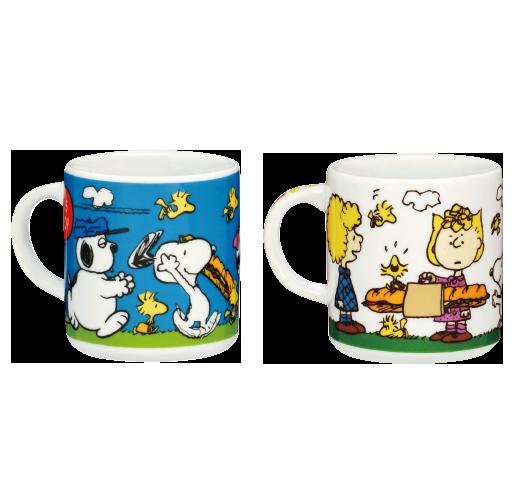 陶器 ピーナッツ バスストップ ブルー&ホワイト