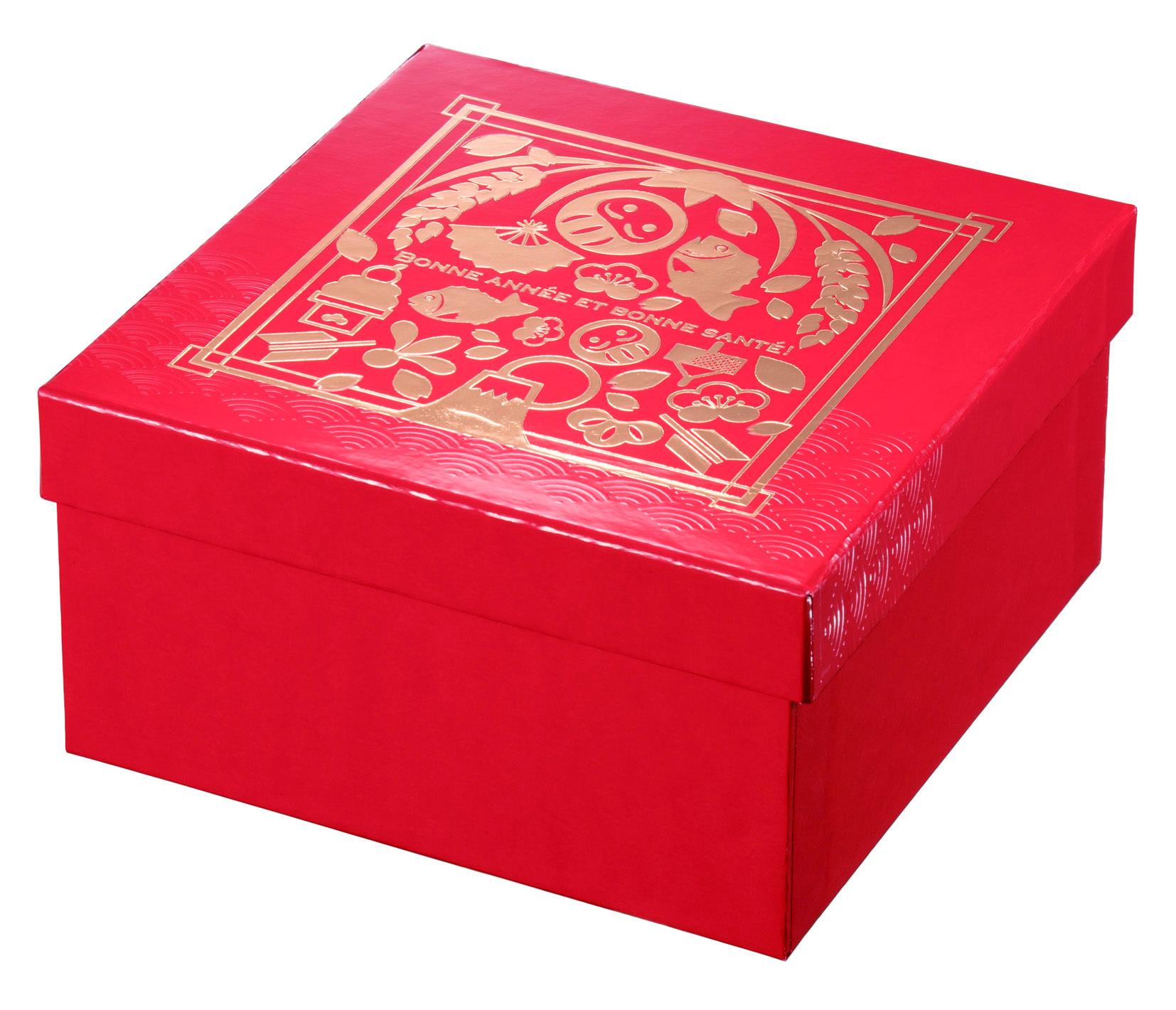 130角貼箱 古代朱